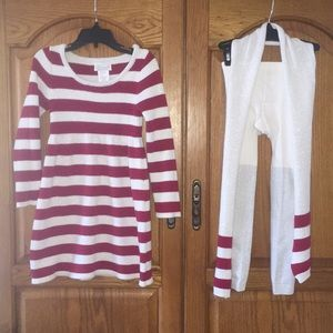 Heirlooms by Polly Flinders Dresses - Girls Heirloom Sweater Dress Set Size Medium 5/6